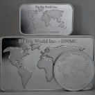12 ounces HWMC Big Big World.999 Fine Silver Bars and Coin