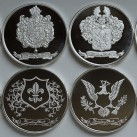 8 ounces HWMC Heraldry Mint  1 ounce .999 Fine Silver Rounds ~All Designs~