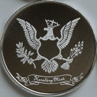 "1 ounce HWMC Heraldry Mint Silver Round ""The Americas"""